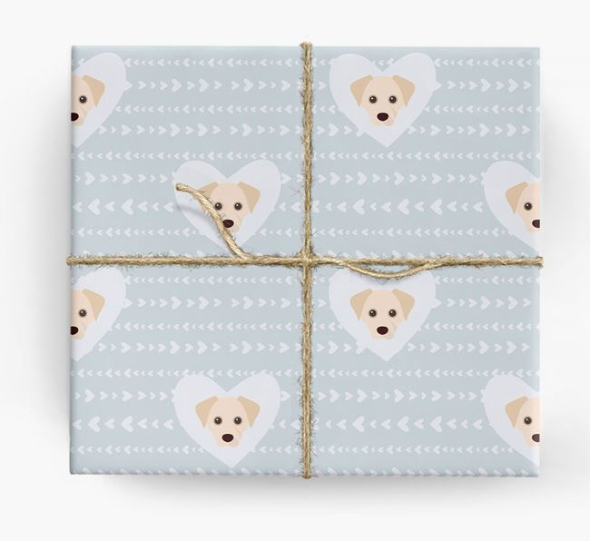 'Hearts' Wrapping Paper with Cheagle Yappicons