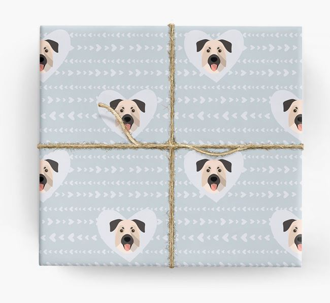 'Hearts' Wrapping Paper with Chinook Yappicons