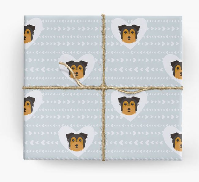 'Hearts' Wrapping Paper with Chorkie Yappicons