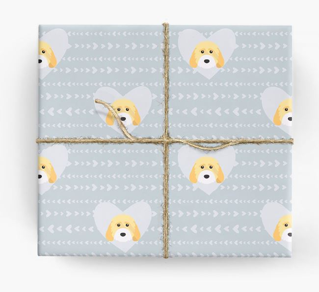 'Hearts' Wrapping Paper with Cockapoo Yappicons