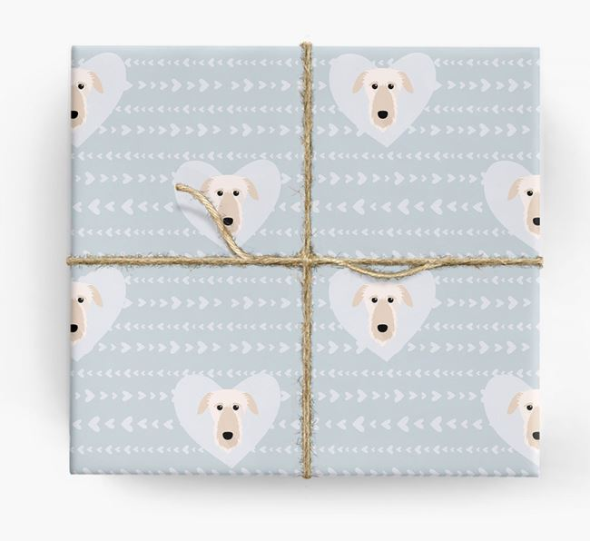 'Hearts' Wrapping Paper with Deerhound Yappicons