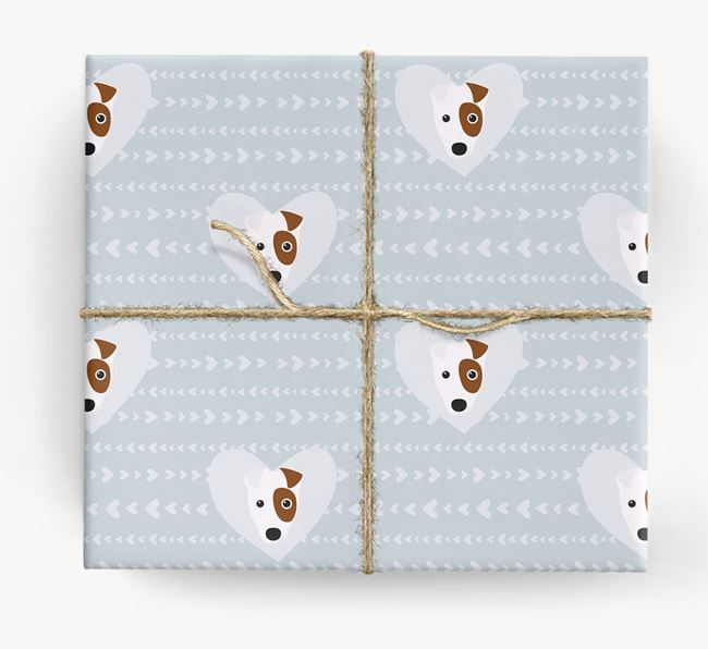 'Hearts' Wrapping Paper with Fox Terrier Yappicons