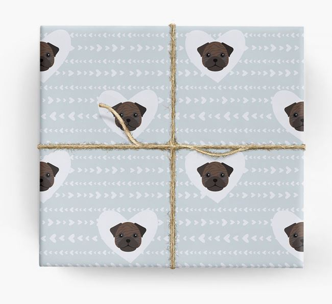 'Hearts' Wrapping Paper with Frug Yappicons