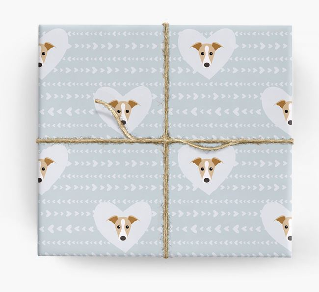 'Hearts' Wrapping Paper with Greyhound Yappicons