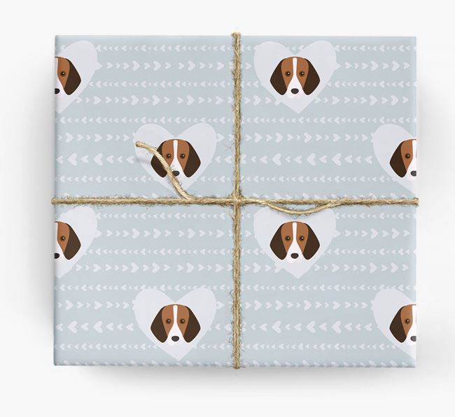 'Hearts' Wrapping Paper with Harrier Yappicons