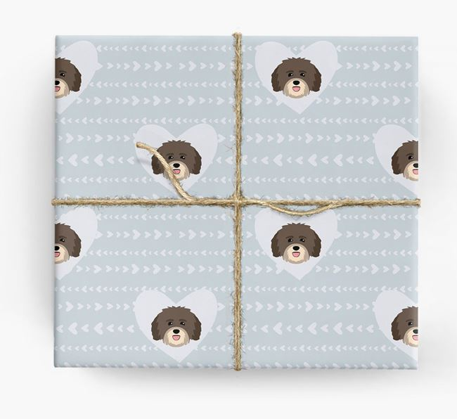 'Hearts' Wrapping Paper with Havanese Yappicons