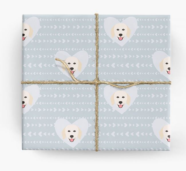 'Hearts' Wrapping Paper with Kuvasz Yappicons