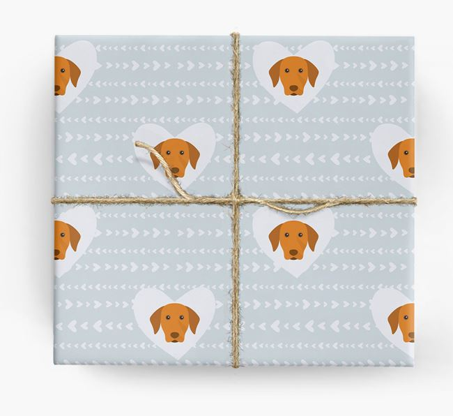 'Hearts' Wrapping Paper with Vizsla Yappicons