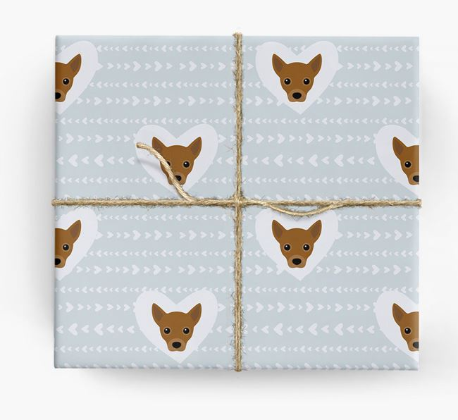'Hearts' Wrapping Paper with Jack Chi Yappicons