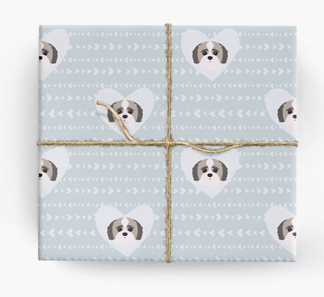 'Hearts' Wrapping Paper with Jack-a-Poo Yappicons