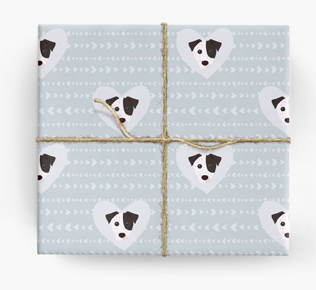 'Hearts' Wrapping Paper with Jack Russell Yappicons
