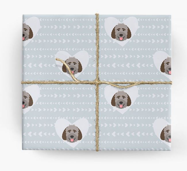 'Hearts' Wrapping Paper with Labradoodle Yappicons