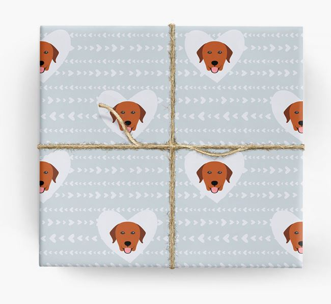 'Hearts' Wrapping Paper with Labrador Yappicons