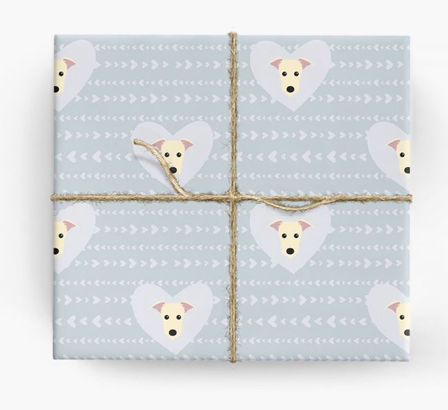 'Hearts' Wrapping Paper with Lurcher Yappicons