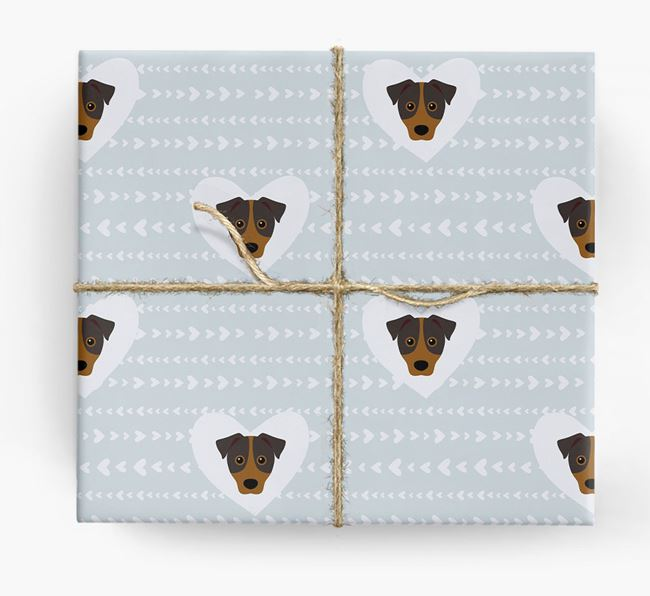 'Hearts' Wrapping Paper with Patterdale Yappicons
