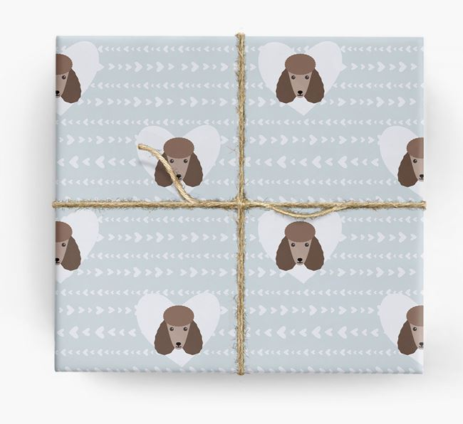 'Hearts' Wrapping Paper with Poodle Yappicons