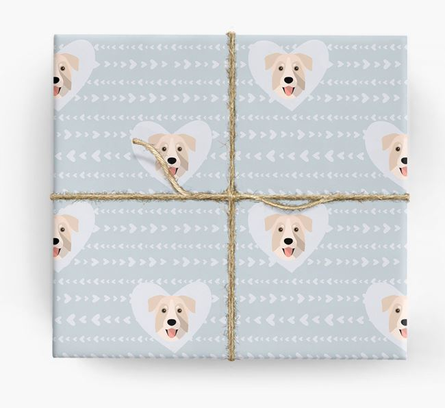 'Hearts' Wrapping Paper with Rescue Dog Yappicons