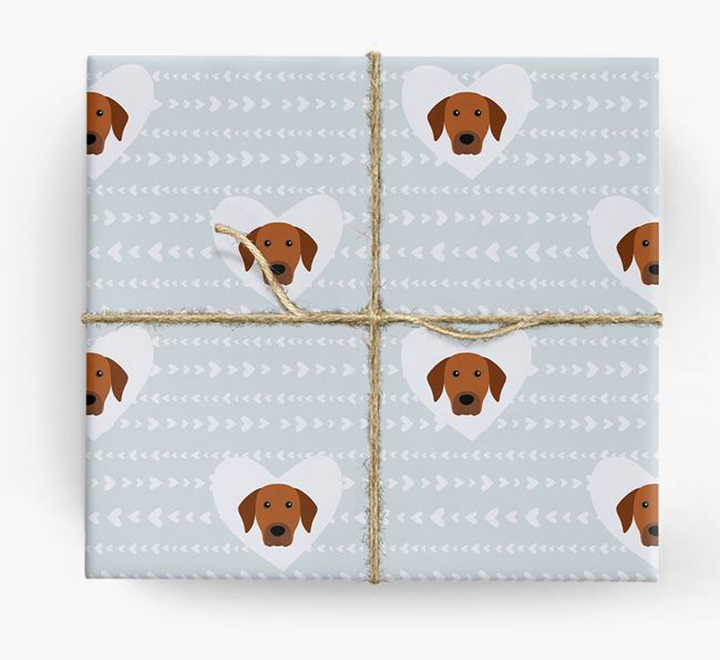 'Hearts' Wrapping Paper with Rhodesian Ridgeback Yappicons