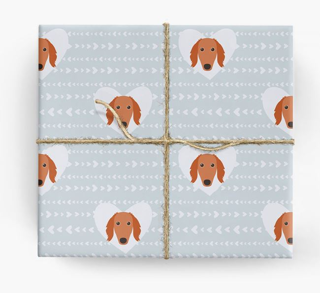 'Hearts' Wrapping Paper with Saluki Yappicons