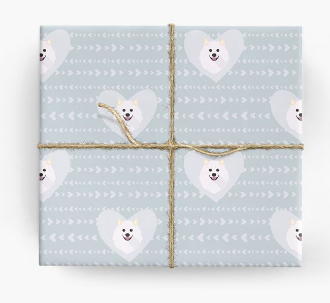 'Hearts' Wrapping Paper with Samoyed Yappicons