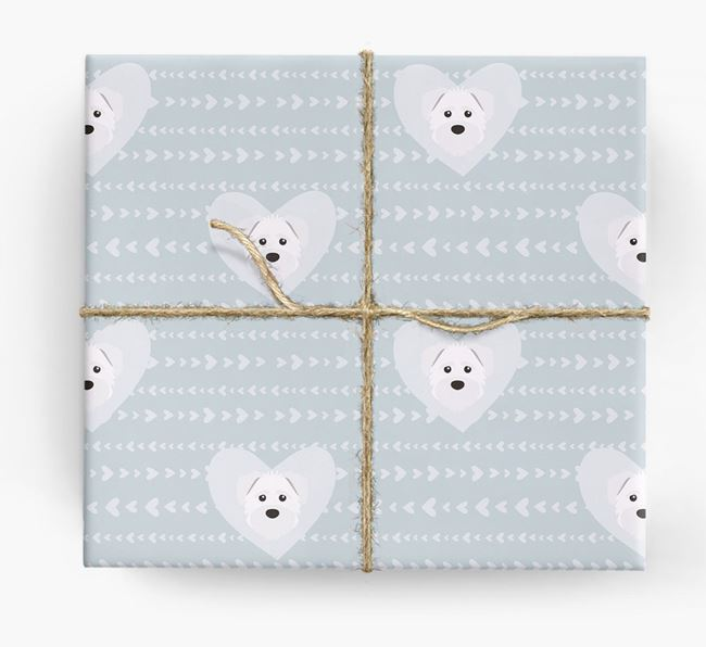 'Hearts' Wrapping Paper with Schnoodle Yappicons