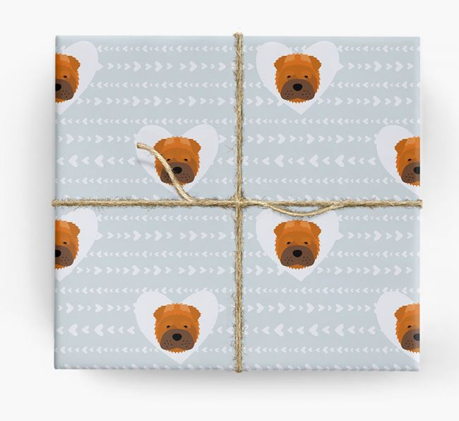 'Hearts' Wrapping Paper with Shar Pei Yappicons