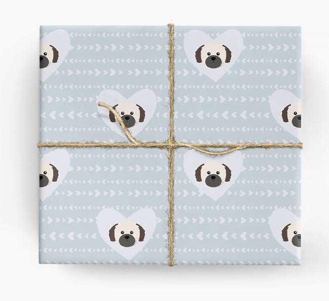 'Hearts' Wrapping Paper with Shih Tzu Yappicons