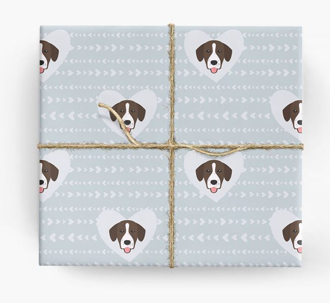 'Hearts' Wrapping Paper with Springador Yappicons