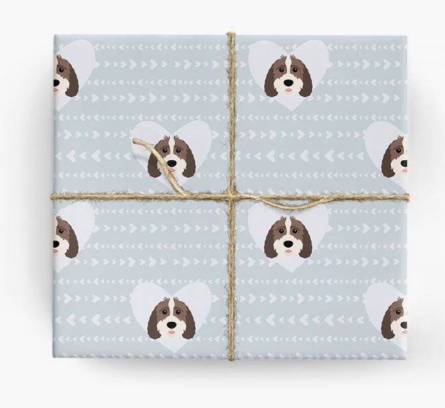 'Hearts' Wrapping Paper with Sproodle Yappicons