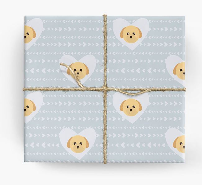 'Hearts' Wrapping Paper with Toy Poodle Yappicons