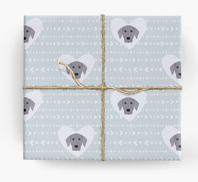 'Hearts' Wrapping Paper with Dog Yappicons