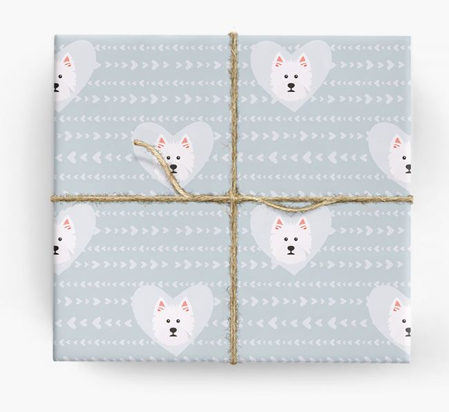 'Hearts' Wrapping Paper with Westie Yappicons
