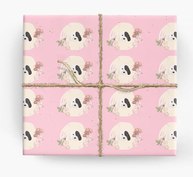 'Flower Pattern' - Personalized Cockapoo Wrapping Paper