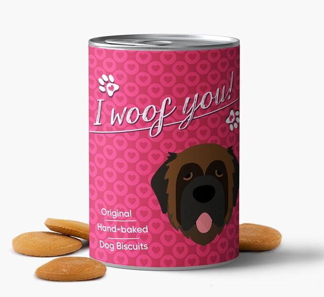 Valentine's Day 'I Woof You' Biscuits