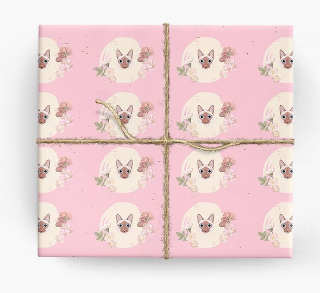 'Flower Pattern' - Personalized Balinese Wrapping Paper