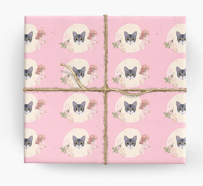 'Flower Pattern' - Personalized Bengal Wrapping Paper