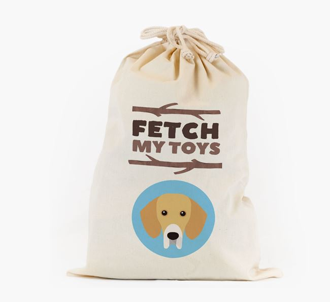 Personalised 'Fetch My Toys' Toy Sack for your Bassador