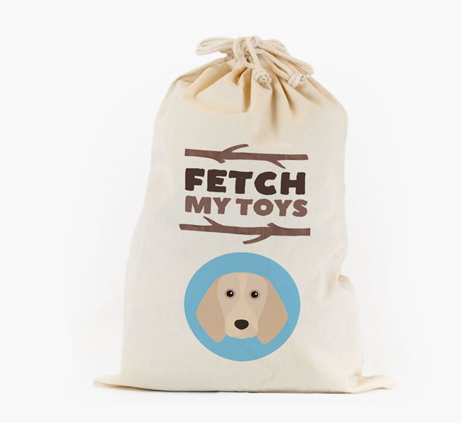 Personalised 'Fetch My Toys' Toy Sack for your Beagle