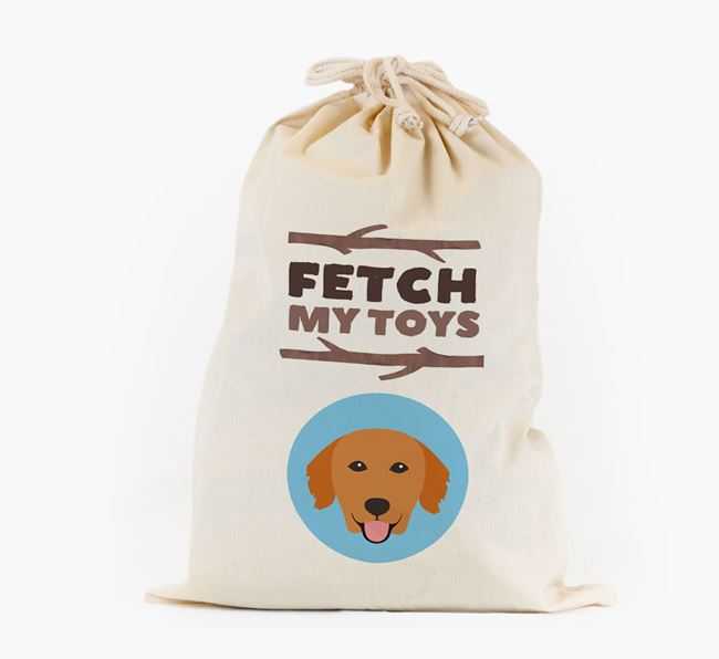 Personalised 'Fetch My Toys' Toy Sack for your Golden Retriever