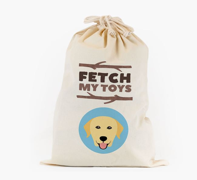 Personalised 'Fetch My Toys' Toy Sack for your Dog