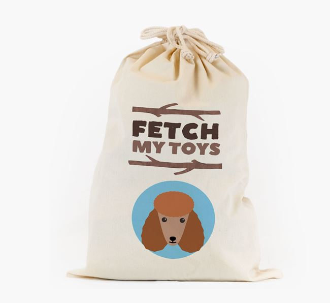 Personalised 'Fetch My Toys' Toy Sack for your Poodle