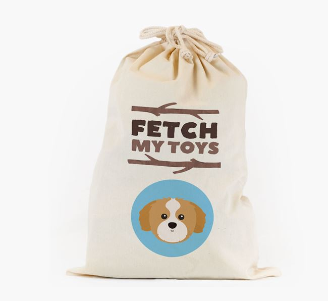 Personalised 'Fetch My Toys' Toy Sack for your Shih Tzu