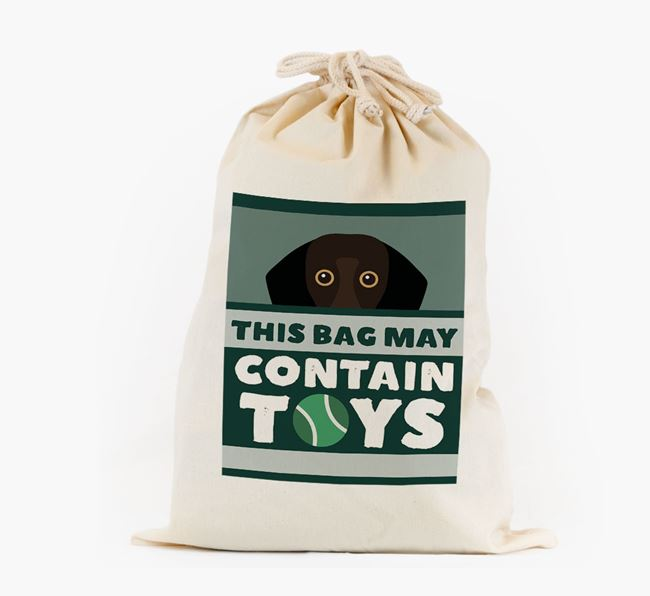 Personalised 'May Contain Toys' Toy Sack for your Bassador