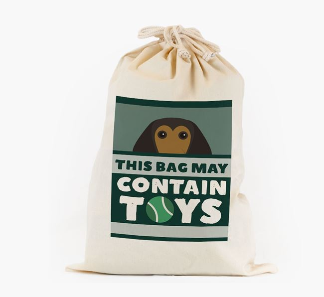 Personalised 'May Contain Toys' Toy Sack for your Beagle