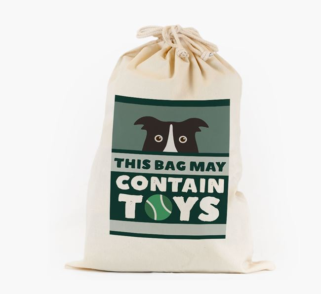 Personalised 'May Contain Toys' Toy Sack for your Dog