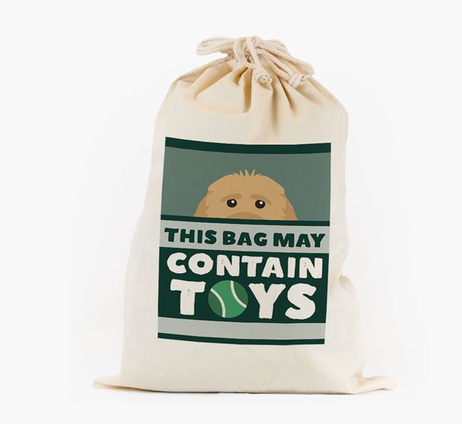 Personalised 'May Contain Toys' Toy Sack for your Cockapoo