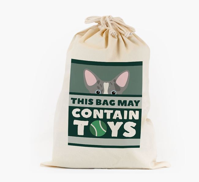 Personalised 'May Contain Toys' Toy Sack for your Corgi