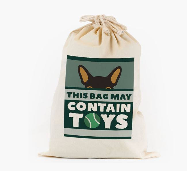 Personalised 'May Contain Toys' Toy Sack for your French Bulldog
