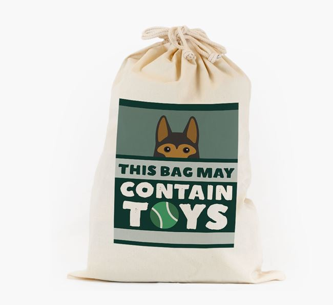 Personalised 'May Contain Toys' Toy Sack for your German Shepherd