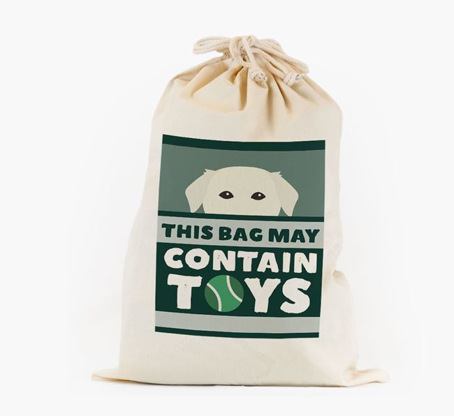 Personalised 'May Contain Toys' Toy Sack for your Golden Labrador